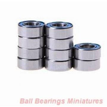 6mm x 12mm x 3mm  ZEN smf126-zen Ball Bearings Miniatures